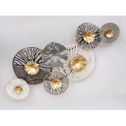 Wanddekoration Blüten Metall