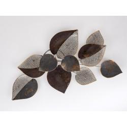 Wanddekoration Blätter Metall